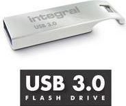Pendrive Integral Arc, 16GB, USB 3.0, srebrny (INFD16GBARC3.0)