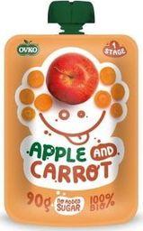 Ovko Przecier jabłko marchew po 6 miesiącu życia BIO 90 g Ovko