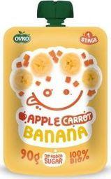 Ovko Przecier jabłko marchew banan po 6 miesiącu życia BIO 90 g Ovko