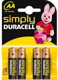 Duracell Simply, Bateria AA, 4 sztuki (DUR002241)