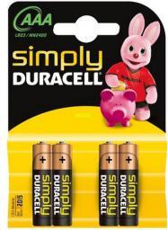 Duracell Bateria Simply AAA / R03 4szt.