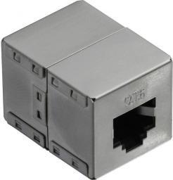 LogiLink Złączka RJ45- RJ45 żeńsko/żeńska kat.6, ekranowana, metal (NP0054)