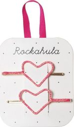 Rockahula Kids Rockahula Kids - wsuwki do włosów Glitter Heart Neon Pink