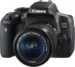 Lustrzanka Canon EOS 750D 18-55S 4CE Czarny (0592C025AA)
