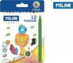 Milan Kredki świecowe Plastipastel 12 kolorów MILAN