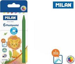 Milan Kredki świecowe Plastipastel 6 kolorów MILAN