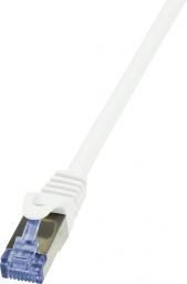 LogiLink CAT 6a Patchcord S/FTP Biały 0.5m (CQ3021S)