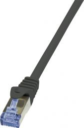 LogiLink CAT 6a Patchcord S/FTP Czarny 0.5m (CQ3023S)