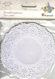 Titanum Serwetki papierowe okrągłe 11,5cm białe 35szt.