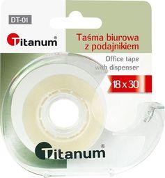 Titanum Taśma biurowa 18mmx30m z podajnikiem