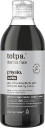 Tołpa Płyn micelarny - tonik 2w1 do mycia twarzy i oczu Physio Carbo 400ml
