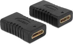 Adapter AV Delock miniHDMI C (F/F) Czarny (65506)