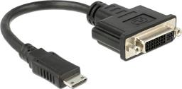 Kabel Delock DVI HDMI Mini, 0.2m, Czarny (65564)