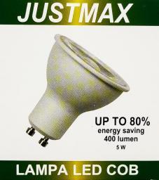Auhilon Przezroczysta żarówka GU10 LED ciepła 5W Auhilon LL7-GU10-COB-B