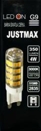 Auhilon Transparentna żarówka G9 LED ciepła 4W Auhilon WL-G9-3.5W02