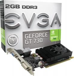 Karta graficzna EVGA GeForce GT 730 Low Profile 2GB DDR3 (02G-P3-2732-KR)