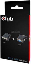 Adapter AV Club 3D DVI - VGA, czarny