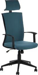 Stema Fotel CLAYTON niebieski/czarny z regulowanym zagłówkiem STEMA