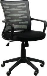 Stema Fotel KB-2022 szary/czarny biurowy do komputera STEMA