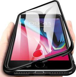 Magnetic Etui Magnetyczne Front+Back do Apple iPhone 7/8/SE 2020 (Czarne) uniwersalny