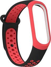 Beline Beline pasek Mi Band 3/4 design czarny-czerwony/black-red