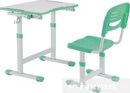 FunDesk Biurko PICCOLINO II zielone z krzesłem podnoszone dla dziecka FUN DESK
