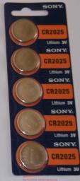Sony Bateria CR2025 5szt.