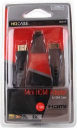Kabel HQCable HDMI - HDMI 1.5m czarny
