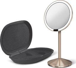 Lusterko kosmetyczne Simplehuman sensorowe mini z pokrowcem różowe złoto