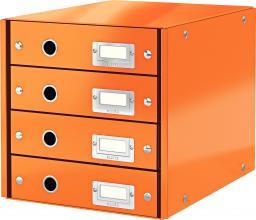 Leitz Pojemnik, szafka Leitz Click & Store z 4 szufladami Pomarańczowy (10K269L)