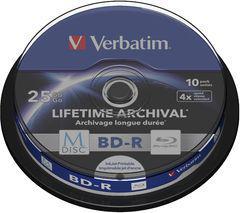 Verbatim M-DISC BD-R, 4x, 25GB, 10 sztuk (43825)