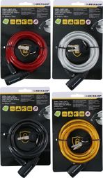 Dunlop Zapięcie rowerowe Dunlop spiralne na klucz 0,8x150cm 4 kolory