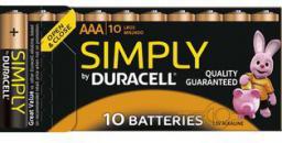 Duracell Bateria AAA / R03 10szt.