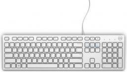 Klawiatura Dell KB216 Quietkey Przewodowa Biała US (580-ADEG)