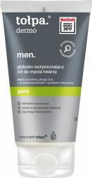 Tołpa Dermo Men. Pure, głęboko oczyszczający żel do mycia twarzy 150ml