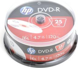 HP DVD-R 4.7GB, 16X, 25 sztuk, Cake