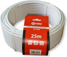 Przewód CORAB Antenowy, 25, Biały