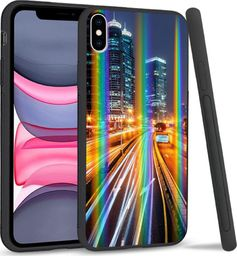 Mojworld Etui na telefon Apple iPhone X/XS Rainbow Night City