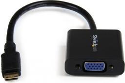 Kabel StarTech HDMI Mini D-Sub (VGA), 0.2, Czarny (MNHD2VGAE2)