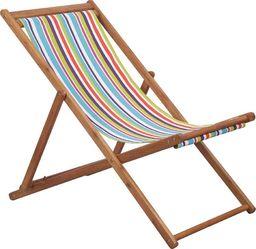 Elior Kolorowy leżak z drewna eukaliptusa - Inglis 2X
