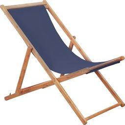 Elior Granatowy leżak drewniany - Inglis 2X