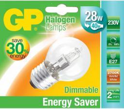 GP Battery Żarówka halogenowa E27, 30W (40W), ciepła biała, 350 lm (046646-HLME1)