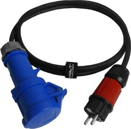 Doktorvolt Kabel przejściowy 2m IP44 230V/16A z wtyczki 230V na gniazdo kempingowe przewód 3x1,5 Doktorvolt 6503