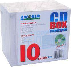 4World CD Box przeźroczysty, 10 szt. (1415)