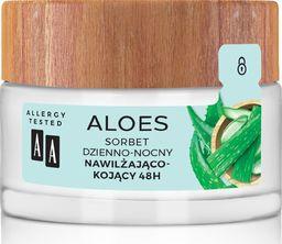 AA Aloes 100% Sorbet dzienno-nocny nawilżająco kojący 48H 50ml
