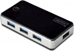 HUB USB Digitus 4 porty USB 3.0 Czarny (DA-70231)