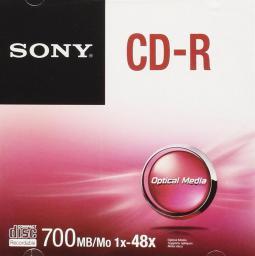 Sony CD-R 700 MB, 80 min, 48x, 1 szt (CDQ80SJ)