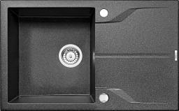 Deante Zlewozmywak 1-komorowy Andante z ociekaczem 49 x 78cm grafitowy (ZQN_2113)
