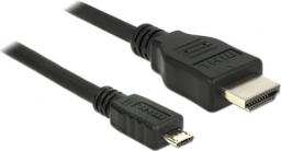 Kabel Delock HDMI USB Micro, 2, Czarny (83649)