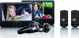 """Odtwarzacz przenośny Lenco DVP-938, 2 ekrany 9"""", CD, USB, SD, 2 piloty, 2 x słuchawki"""